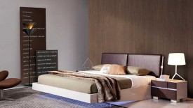 Contemporary Floating Bed With Led Lights  Widescreen Wallpapers