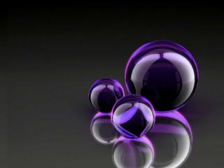 Dark Black Purple Ball