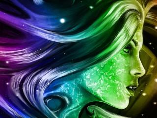 Digital Art Girl 3D Wallpaper Widescreen