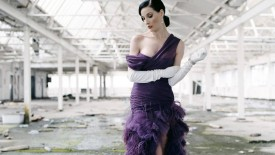 Dita Von Teese Purple Dress Brunette Sexy Hot Desktop