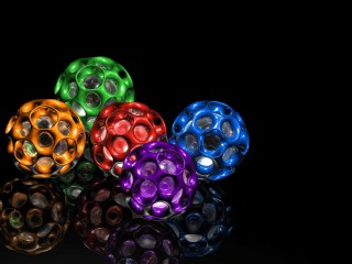 Free Colorful Ball 3D HD Wallpaper