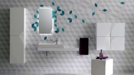 Futuristic Design Wall Tile Decor Bathroom Remodel Ideas