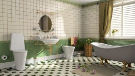 Green Bathroom Remodel Ideas Tile
