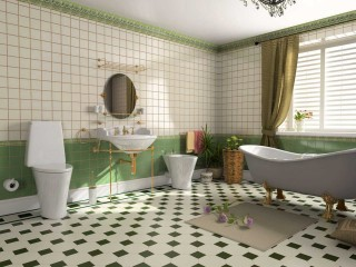 Green Bathroom Remodel Ideas Tile