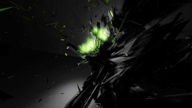 Green Black Shatter Wallpaper Widescreen