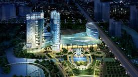 HD 3D Architecture Building Lightining