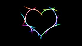 Heart Neon Lights Desktop