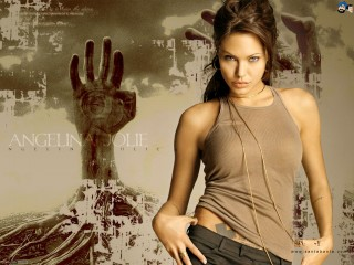 Hot Angelina Jolie Brunette Woman Celebrity Desktop