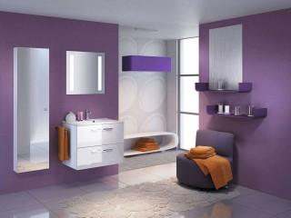 Incredible Purple Small Bathroom Remodel Design