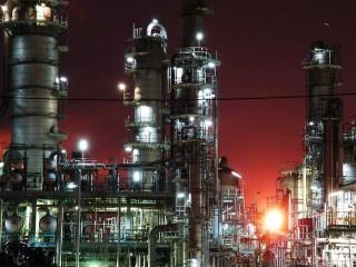 Japan Industrial Factory Night Lights