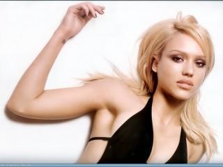 Jessica Alba Beautiful Blonde Hot Babe Desktop