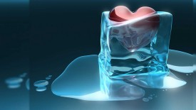 Love Cold Ice 3D Wallpaper Widescreen