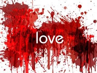 Love Lovesick Red Blood Wall Desktop