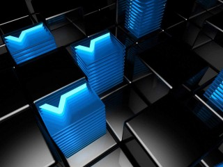 Nice Blue Floor 3D Abstract HD Wallpaper