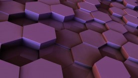 Purple Hexegon Pill 3D Wallpaper Widescreen