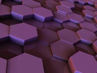 Purple Hexegon Pill 3D Wallpaper Widescreen