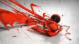 Red Headphone 3D Abstract HD Wallpaper