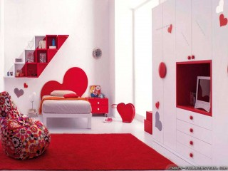 Red Romantic Bedroom Wallpaper