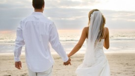 Romantic White Wedding Beach
