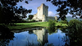 Ross Castle Killarney National Park Ireland Lake Reflection