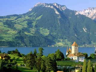 Spiez Castle Lake Thun Switzerland