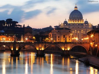 St Peters Basilica Rome Morning