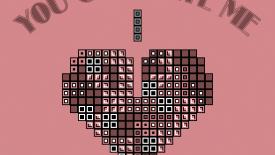 Tetris Love You Complete Me Big Heart Bricks Desktop