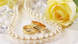 Wedding Ring And Rose