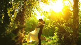 Wedding Romantic Embrace