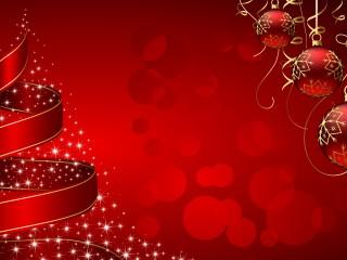 Christmas Tree Bauble Digital Art 1920×1080