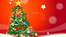 Happy Christmas Tree Wallpaper
