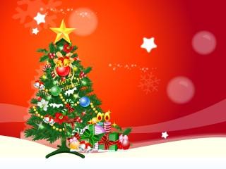 Happy Christmas Tree Wallpaper
